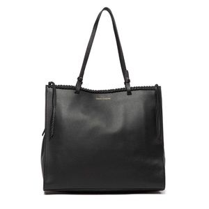 New Vince Camuto Black Leather Tote Bag